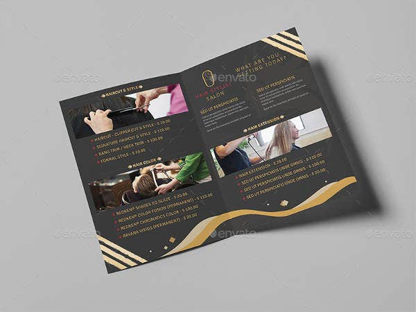 hair stylist and salon brochure