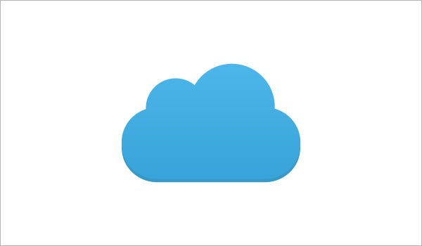 blue cloud icons