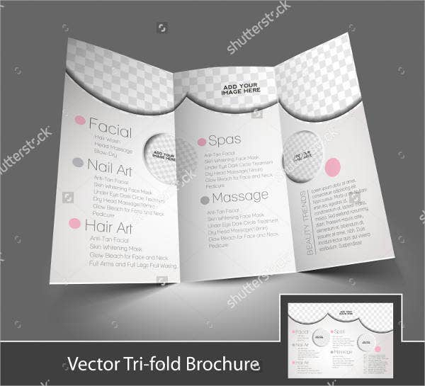 beauty care and salon brochure