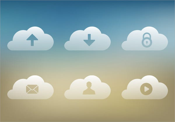 Transparent Cloud Icons