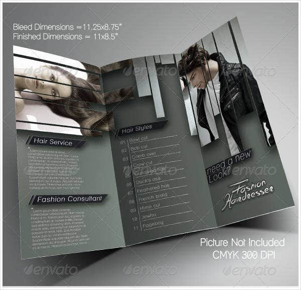 hairdresser salon brochure