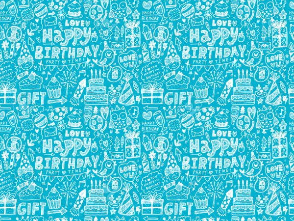 doodle birthday party patterns
