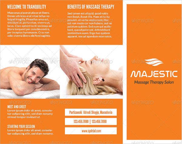 spa and massage salon brochure