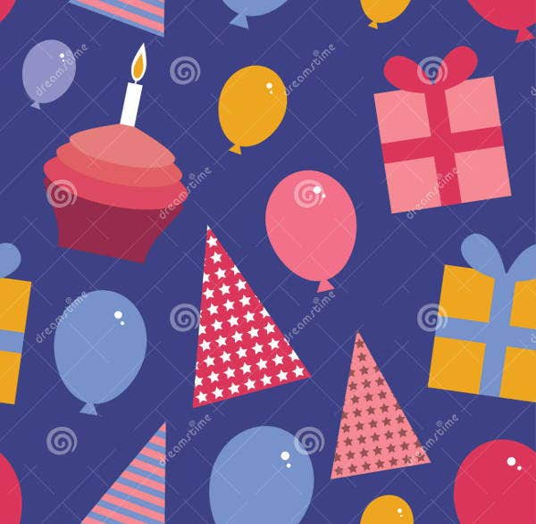 balloons and cupcakes party patterns