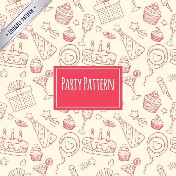 sketch-party-pattern