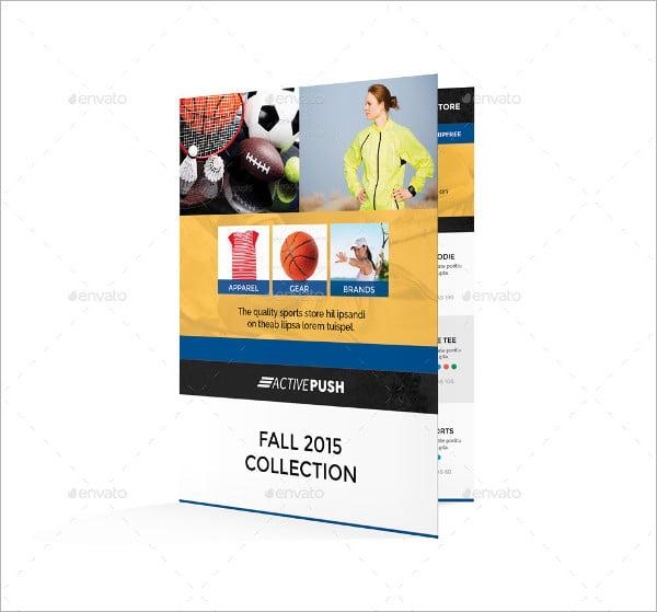 sports store bifold brochure