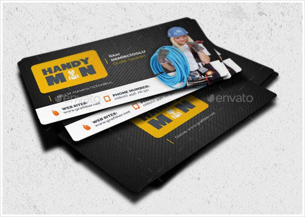 sample handyman business card