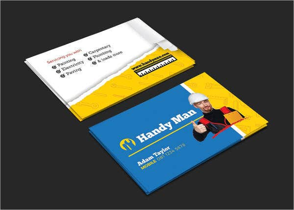 Handyman Business Cards 4 Free PSD Vector EPS PNG Format