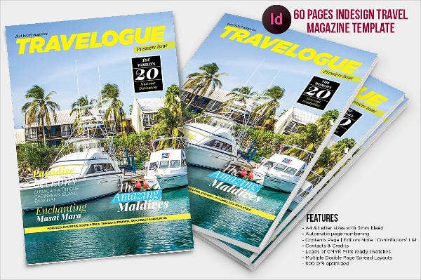 A4 Travel Magazine Template