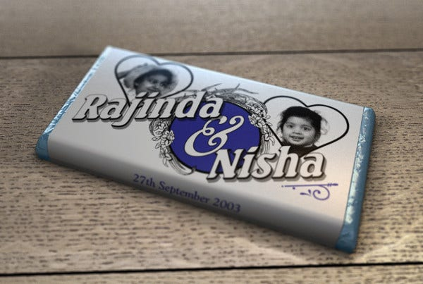 Personalized Chocolate Wrapper Template