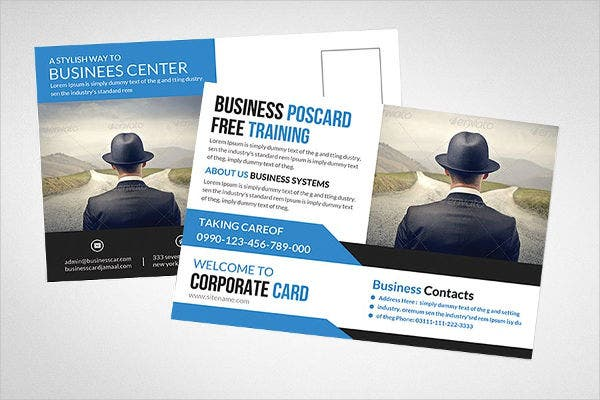 Corporate Company Postcard