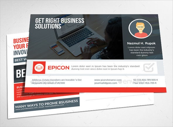 Business postcard template roho4senses business postcard template cheaphphosting Image collections