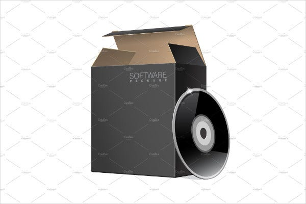 CD Packaging Box Template