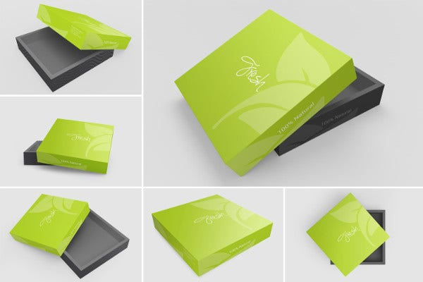 Packaging Box Template In PSD