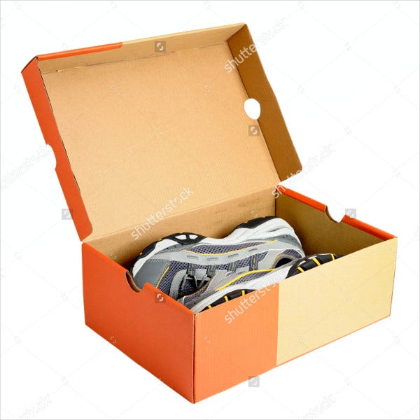 shoe packaging box template