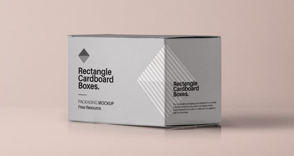 rectangle packaging box template
