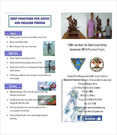 sport fishing brochure
