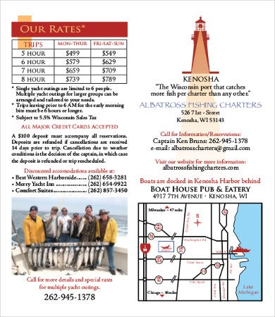 fishing charter brochure