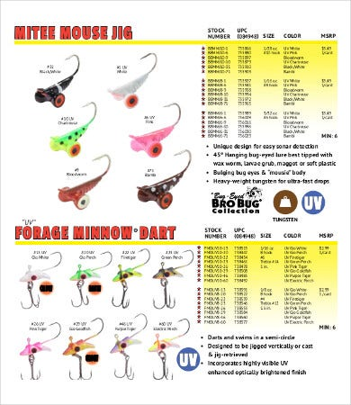 fishing tackle brochure