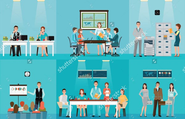 Office Employees Vector