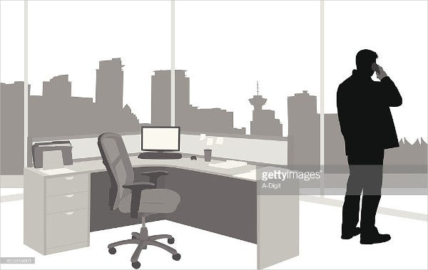 Modern Office Vector Art