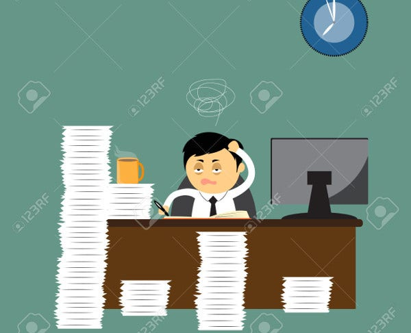 Business Office Vector