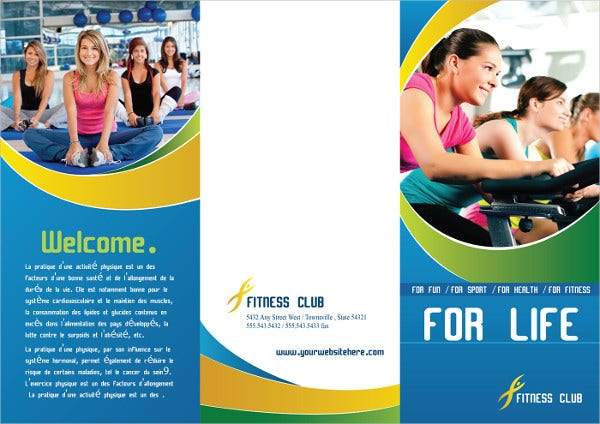 Fitness brochure 9 free psd vector ai eps format for Gym brochure template