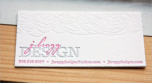 Diy Letterpress Business Card