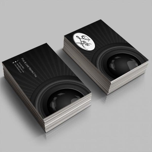 photography diy business card