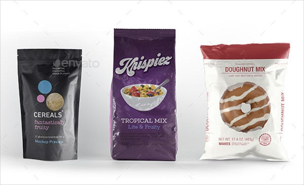 Pouch Packaging Mockup