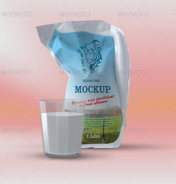 Milk Pouch Mockup