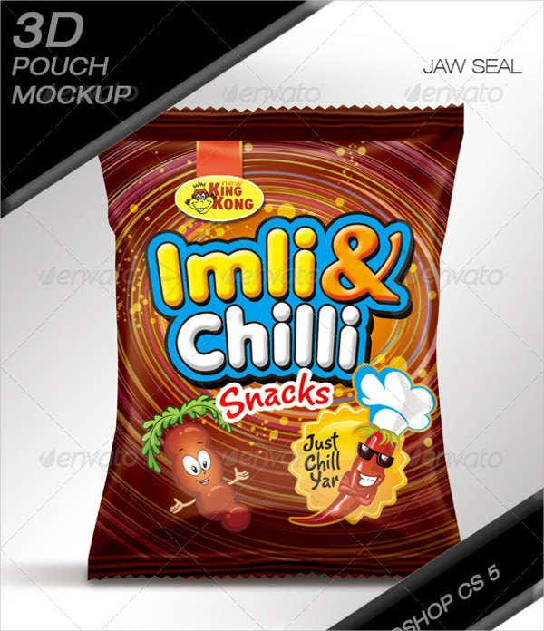 chips snacks pouch mockup