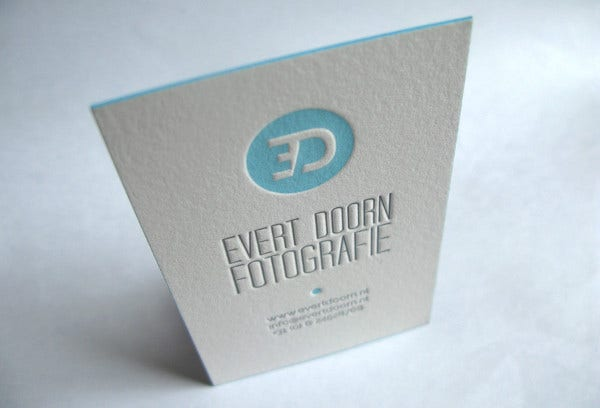 thick stock business card