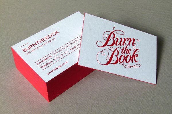 thick foil business card