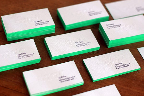 Thick Embossed Business Card