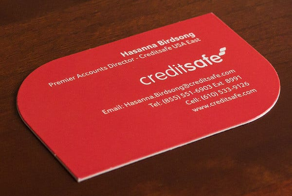 double sided thick business card