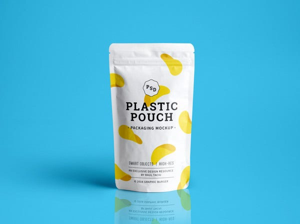 Plastic Pouch Packaging MockUp