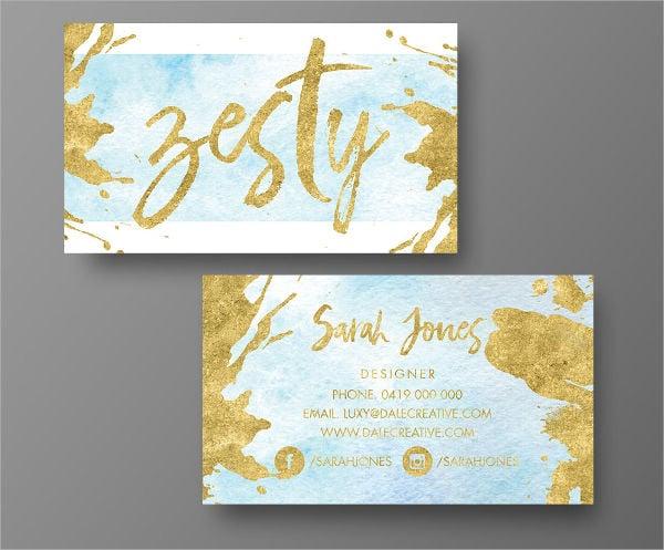 diy foil business card