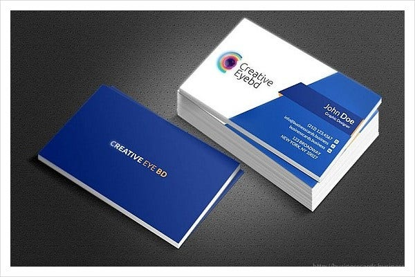 Videographer Sample Business Card