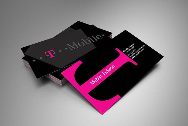 Sample Personal Business Card
