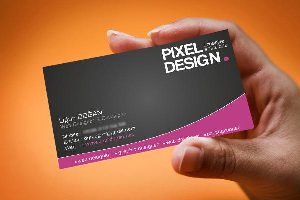 Sample Business Card Template Free
