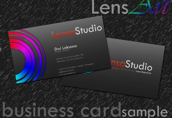 Sample business card doritrcatodos sample business card reheart Images