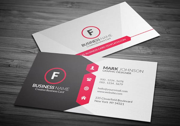 Corporate Sample Business Card Template