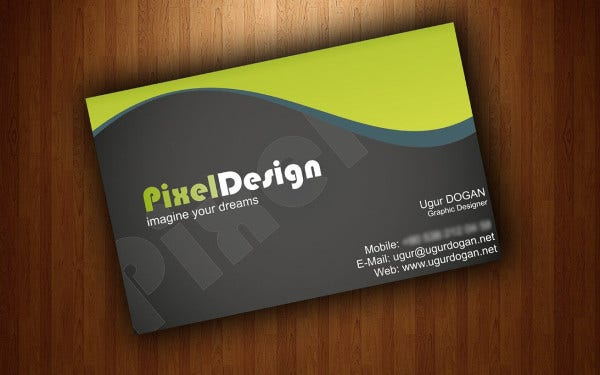 Colorful Sample Business Card