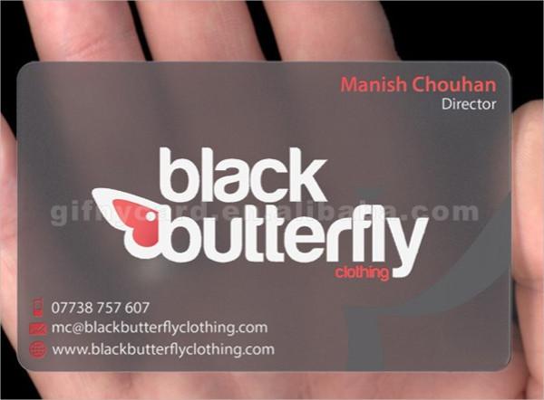 transparent diy business card