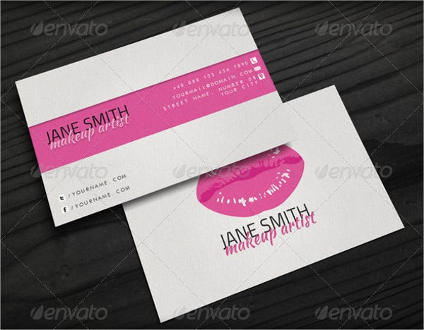 Makeup Artist Business Cards 9 Free PSD Vector AI EPS