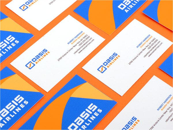 graphic design student business card
