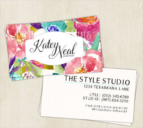Hair and Makeup Artist Business Card