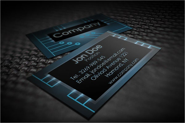 graphic electronic design business card