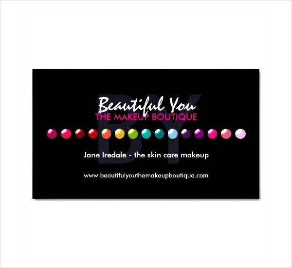 15  makeup artist business cards in psd  vector eps  ai